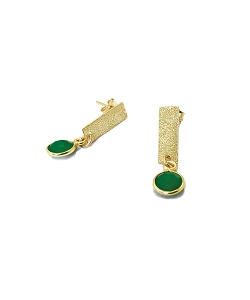 Bar with Gemstone Stud Earrings