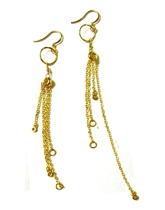 Circle with Tassel Earrings