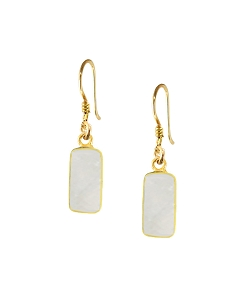 Rectangle Gemstone Earrings