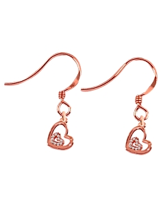 Italian CZ Charm Earrings