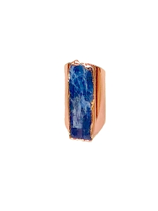 Kyanite Gemstone Cigar Ring