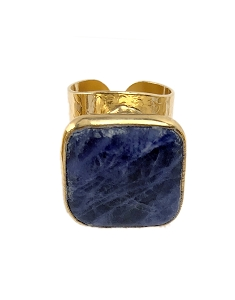 Lapis Cigar Gold Ring
