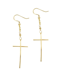 Simple Cross Dangle Earrings