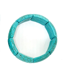 Rectangle Howlite Turquoise Bracelet