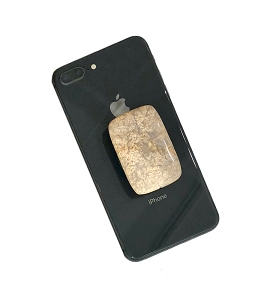 Rectangle Fossil Coral Gemstone Cell Phone Socket