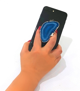 Blue Slice Gemstone Cell Phone Socket