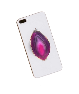Pink Slice Gemstone Cell Phone Socket