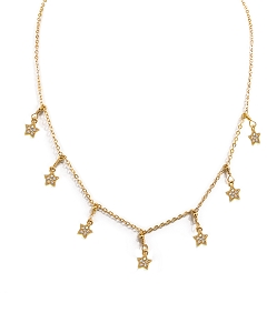 7-Star-Charm Dangle Necklace