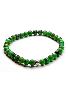 8MM Natural Gemstone Green Turquoise Beaded Stretch Bracelet