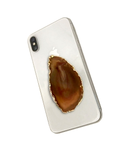 Brown Slice Gemstone Cell Phone Socket