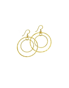 Double Various Size Circle Earrings