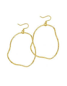 Irregular Circle Dangle Earrings