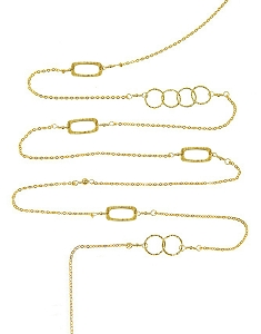 Multiple Circles-Frames Long Necklace