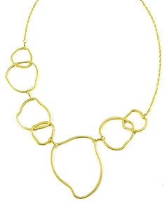 Irregular Circles Short Necklace
