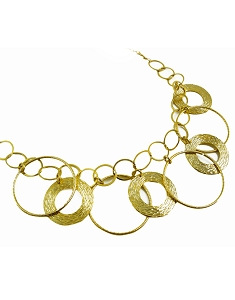 Multiple Circles Short Necklace