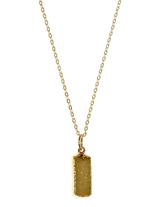 Rectangle Champagne Druzy Pendant Necklace