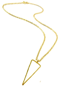 Triangle Cutout Pendant