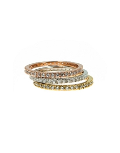 Multi-Tone Stackable Rings with CZ