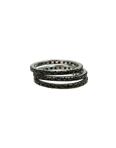 Sterling Silver Black Stackable Rings