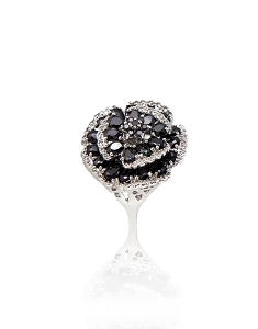 Sterling Silver Flower Ring with CZ