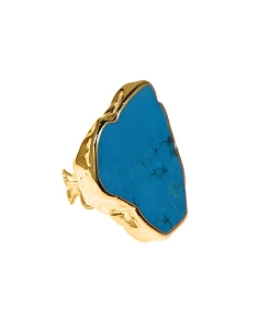Turquoise Blue Gold Ring