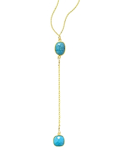 Y 2-Turquoise Gemstones Necklace