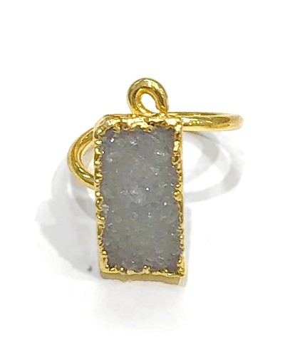 Light Gray Druzy