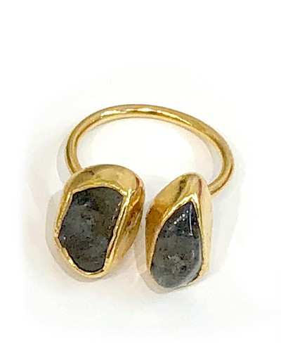 Double Irregular Gemstone Ring