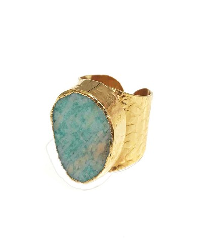 Amazonite / 24K Gold Plated