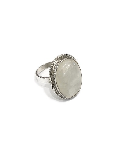 Moonstone All Sterling Silver Ring
